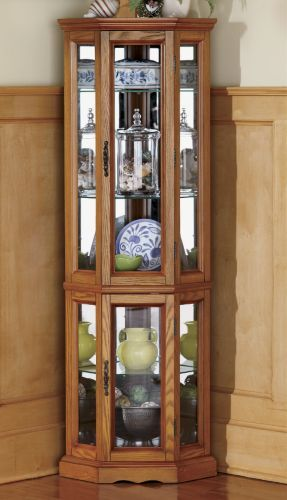 Unique Rent to Own Corner Curio Cabinet
