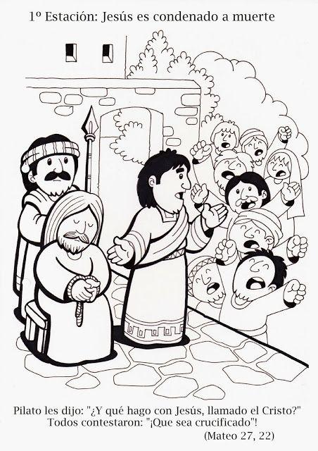 La Catequesis: Vía Crucis para colorear los niños de Catequesis