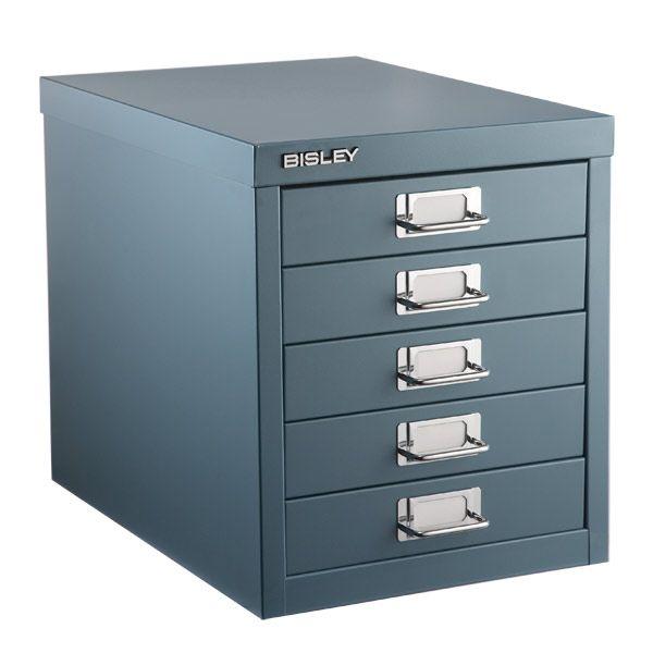 Bisley Graphite 5 Drawer Cabinet Office Storageoffice