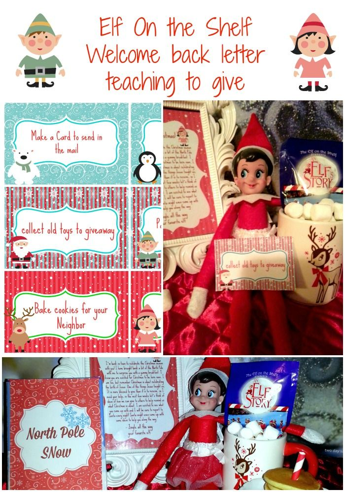 elf on the shelf North Pole Breakfast With Welcome back letter teaching to pay it forward with free printables #elfontheshelf #Christmas