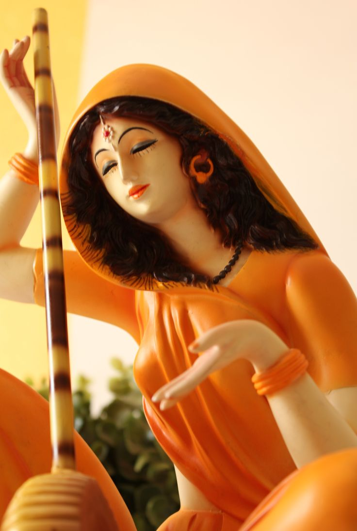 Meera Bai Statue - It cant get more magnificent than this masterpiece. (Meera Bai was an aristocratic Hindu mystical singer and devotee of Lord Krishna from Rajasthan and one of the most significant figures of the Sant tradition of the Vaishnava bhakti movement.)
