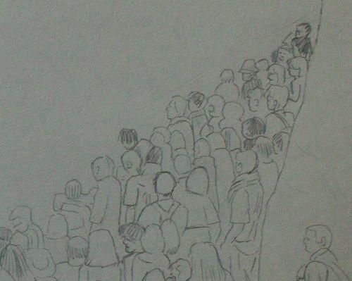 если много людей картинки карандашом выжить после рассказывает