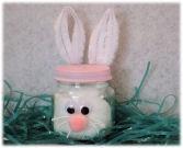 Baby food jar Easter Bunny