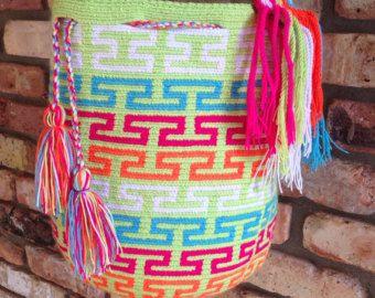 Large Multi-Colored Wayuu Mochila DT086
