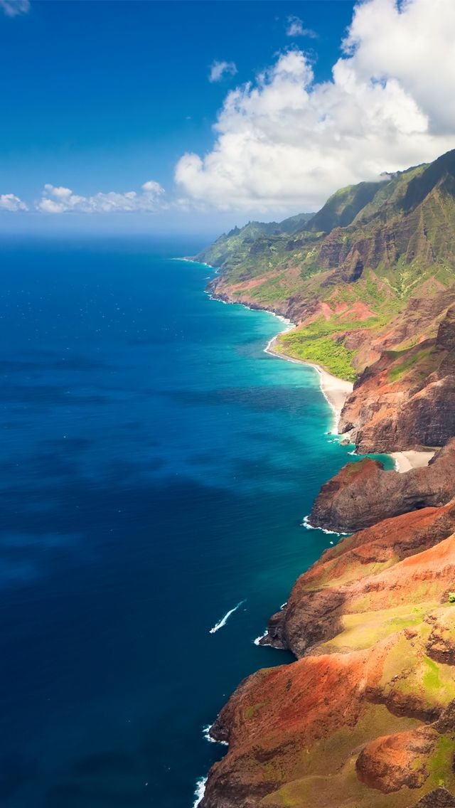 Na Pali coast WOW!!! Kauai...need to see this someday ...