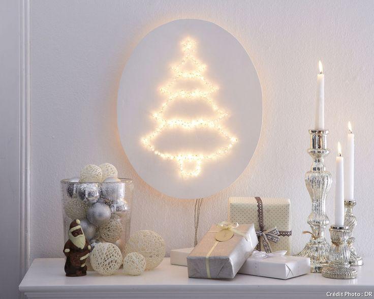 Cette applique murale en forme de sapin va créer une douce ambiance lumineuse dans le salon ou la chambre. Voici les étapes pour la créer.