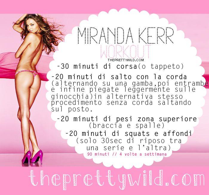 The Pretty Wild ♥ : Dieta e allenamento di Miranda Kerr