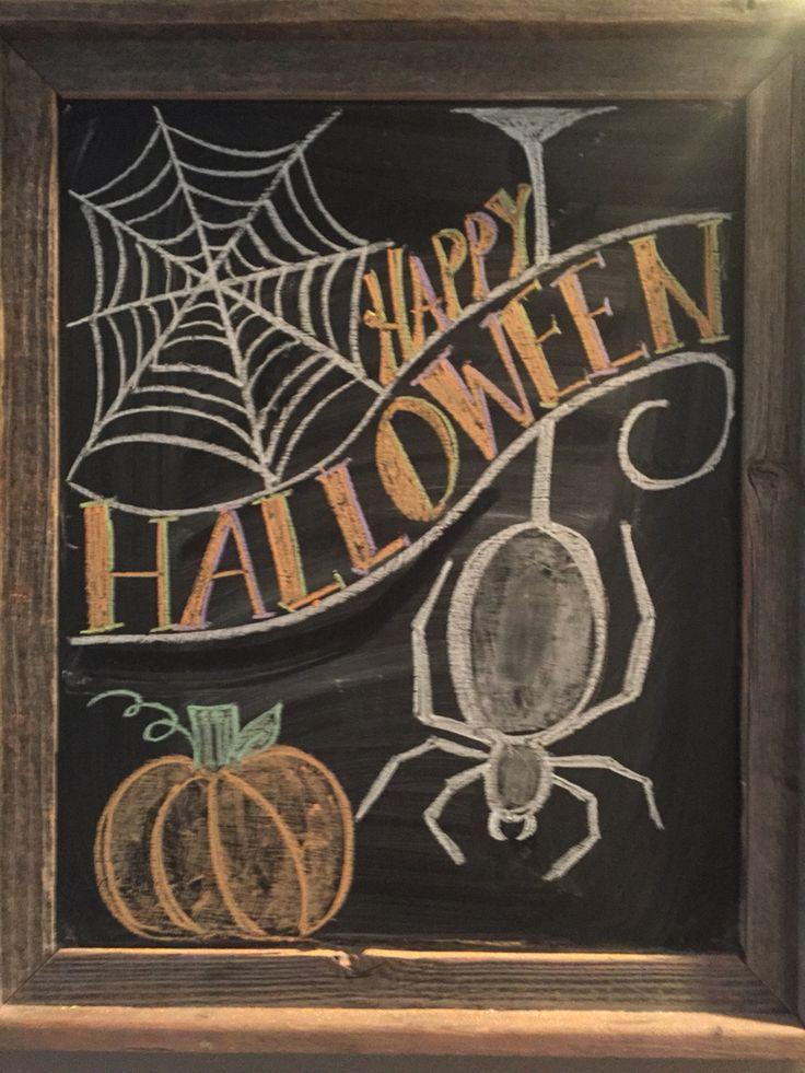 Halloween chalkboard Halloween chalk board
