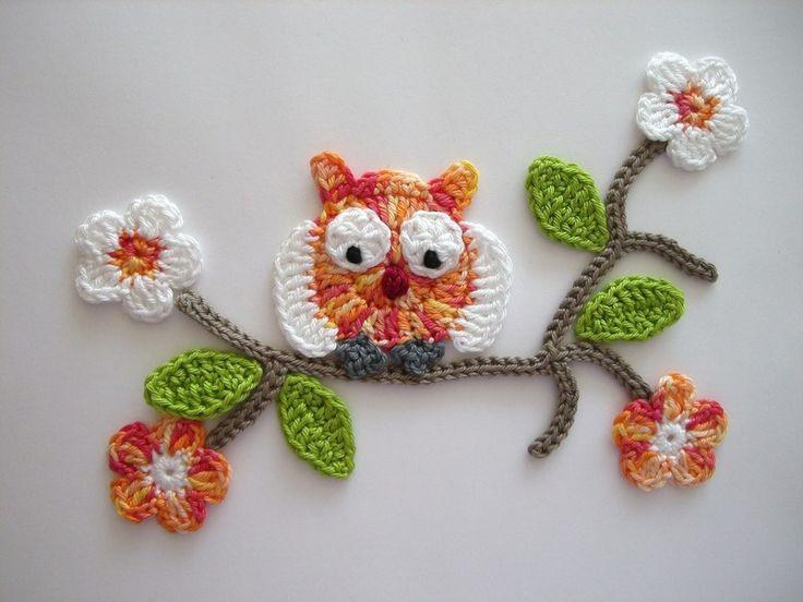M s de 1000 ideas sobre apliques de b ho en pinterest - Aplicaciones de crochet para colchas ...