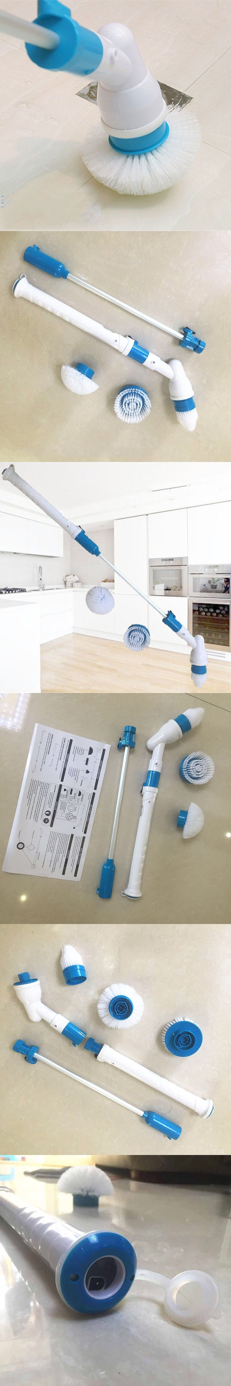 Electric Clean Brush Wireless Hurricane Charge Cleaning Brush Home Bathtub Floor Auto Revolving Mop ABS resin and silica gel