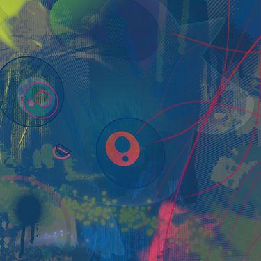 """Saatchi Art Artist Metso Maru; New Media, """"Indico bleus"""" #art"""