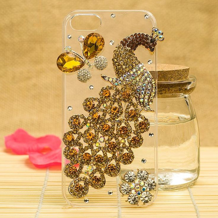 HOT Gorgeous 3D Swarovski Crystal Peacock Case Cover for iPhone 5 - Color 01