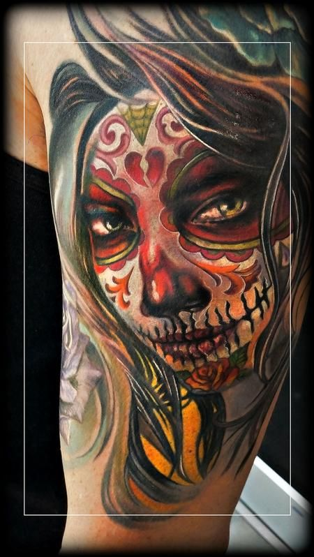 60 day of the dead tattoos you will want to get asap - 450×798