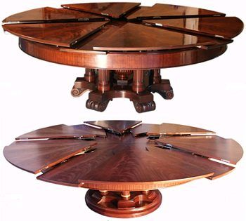 An Expanding Round Table. Gorgeous In Both Small And Large Forms.