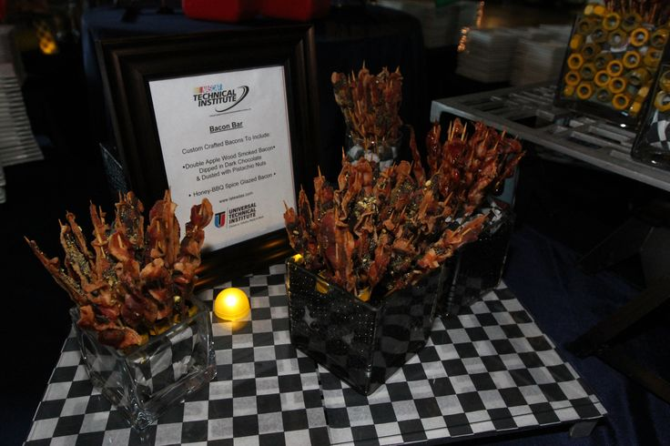 Bacon two ways during the @NASCAR Technical Institute 10-Year Anniversary party