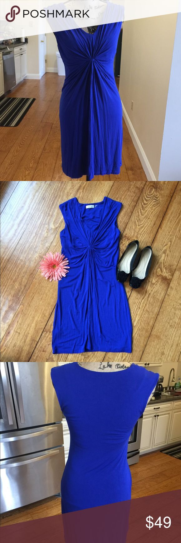 Calvin Klein Dress This is a gorgeous electric blue dress! Brand new condition! Thin, light material. Definitely for a summer night!  Size 6P.  Smoke free home.  Excellent brand new condition.  Same or next day shipping.  Offers welcome! Calvin Klein Dresses