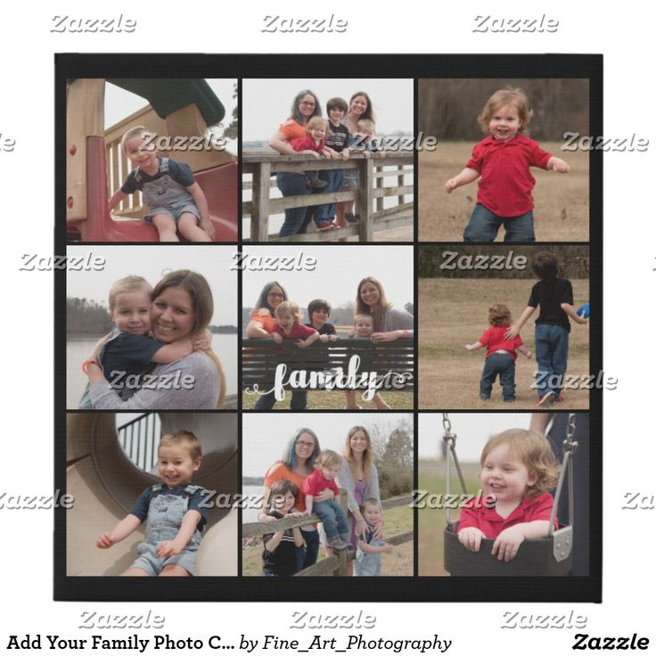 Add Your Family Photo Collage Black Blackground