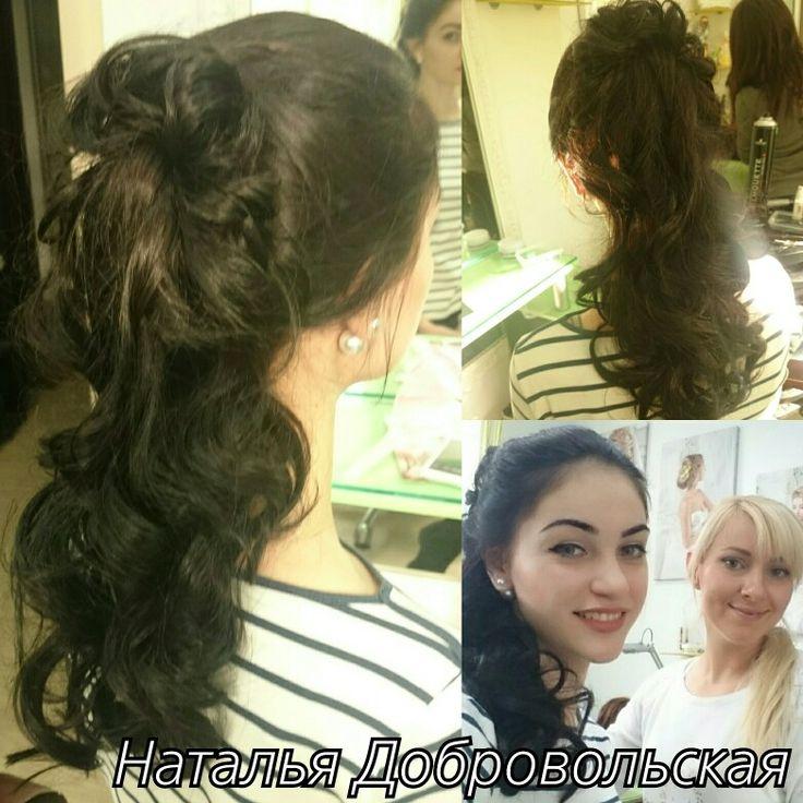 Хвост на длинные волосы очень шикарно смотрится... есть подтверждение ;-) #хвост Очень #красивая #причёска. Мне #нравится делать #вечерниепрически на  #длинныхволосах #днепропетровск #hair #hairstyle #свадебныепрически #свадьбаднепропетровск #вечерниепрически #девочки #локоны #длинныеволосы