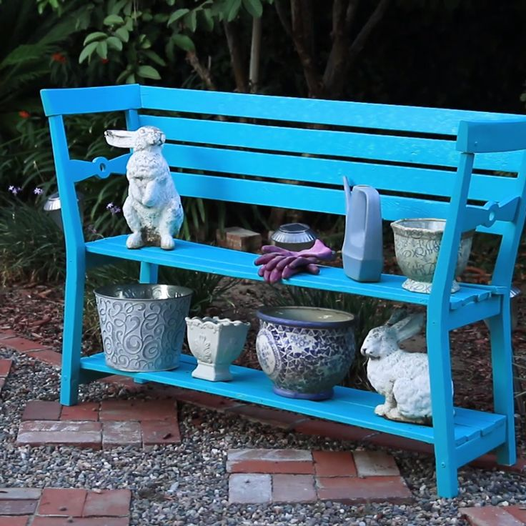 Convert Two Wooden Chairs Into This Adorable Garden Bench
