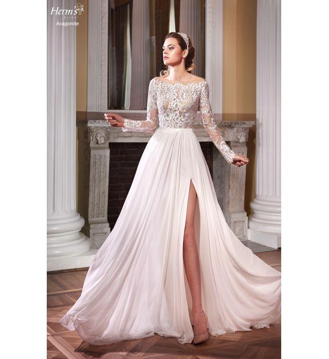 Szukasz wyjątkowej, eleganckiej a zarazem oryginalnej sukni ślubnej? Sprawdź model sukni HERM'S BRIDAL ARAGONITE