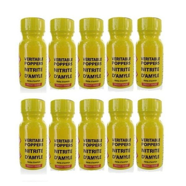 Poppers véritable au nitrite d'amyle 13 ml - Lot de 10 - Articles érotiques/Poppers Lots de 10 - Maxim'Hom