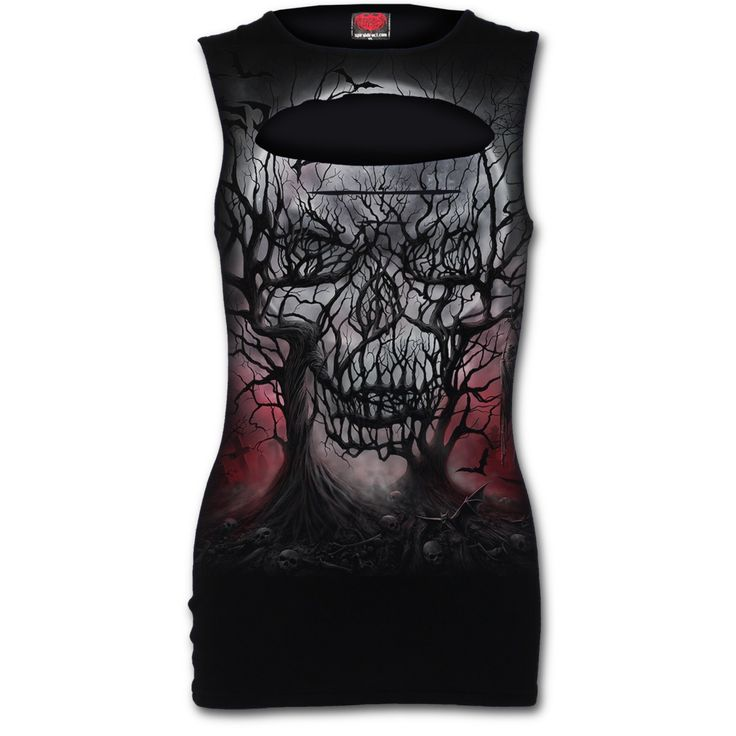 DARK ROOTS - Laser Cut Sleeveless Top
