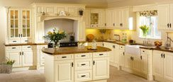 Traditional Cream with Solid Wood Kitchen