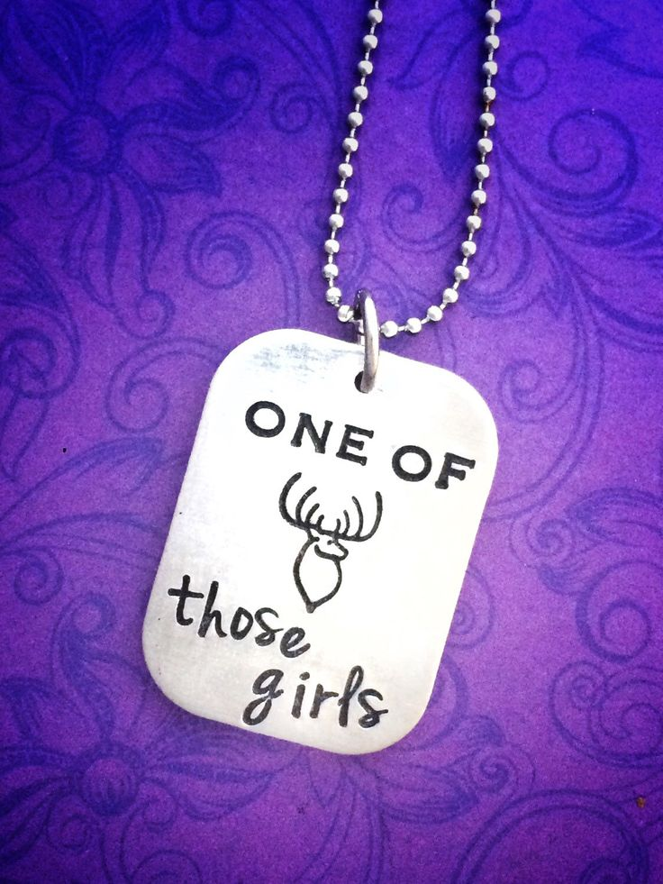 Girls love to hunt, too! New necklace from my Etsy shop https://www.etsy.com/listing/254288242/hand-stamped-necklace-for-girls-who-hunt