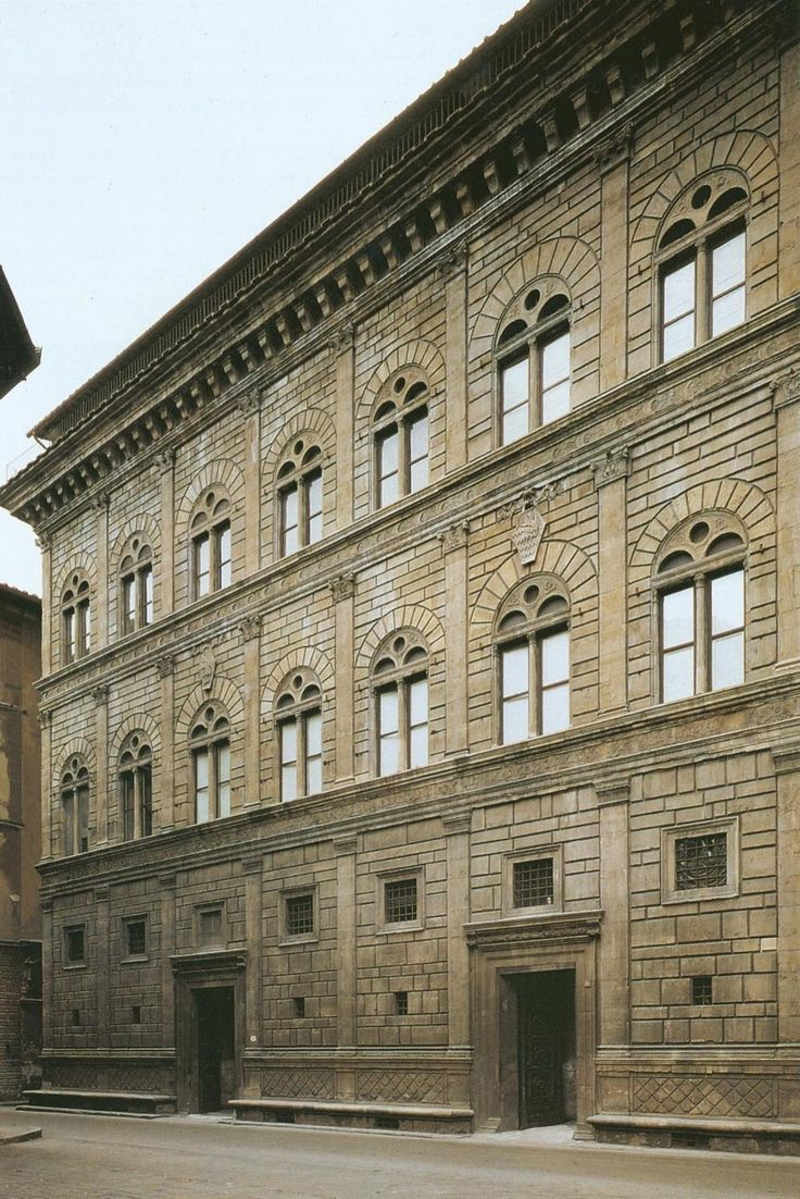 an analysis of the palazzo ruccelai Wider window spacing and less enframement the windows are further apart on the palazzo piccolomini than on the palazzo rucellai, and the masonry around them is treated differently.