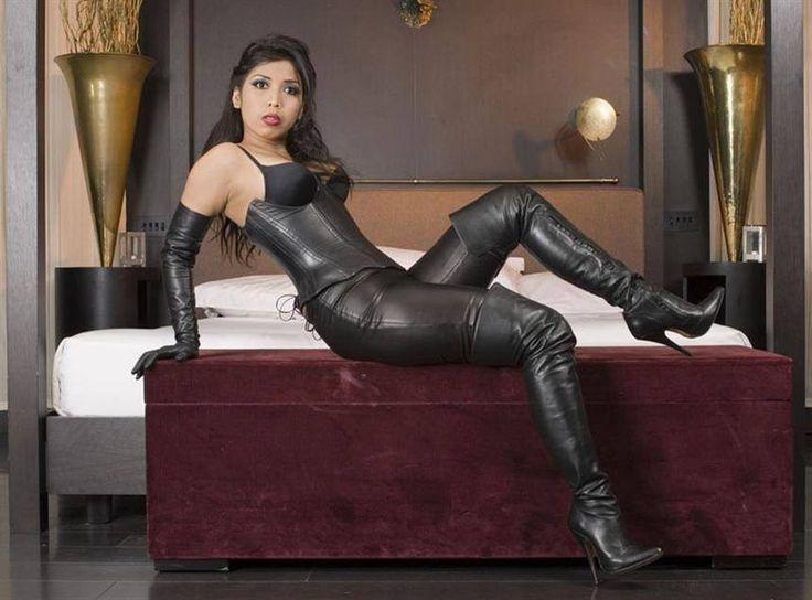 Black leather opera gloves sexy dancer zoe zane - 1 7