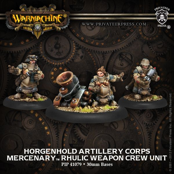 Warmachine: Mercenaries Horgenhold Artillery Corps Rhulic Weapon Crew Unit - Game Nerdz