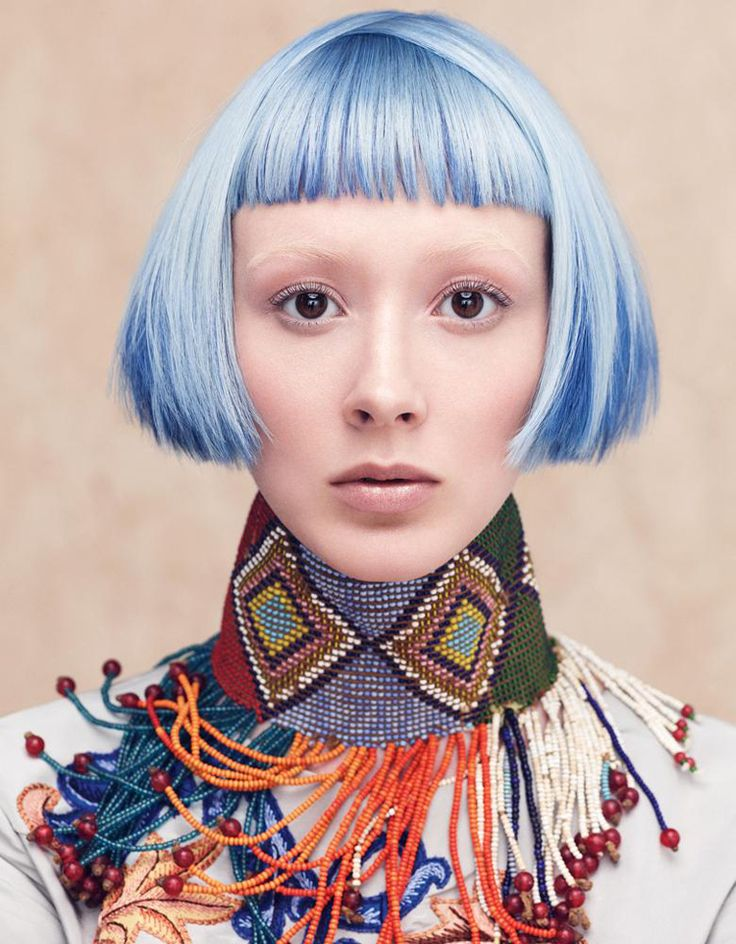 Aveda Culture Clash Collection Spring/Summer 2014 - Pastel Blue Hair Color - LUNARCANDY.COM