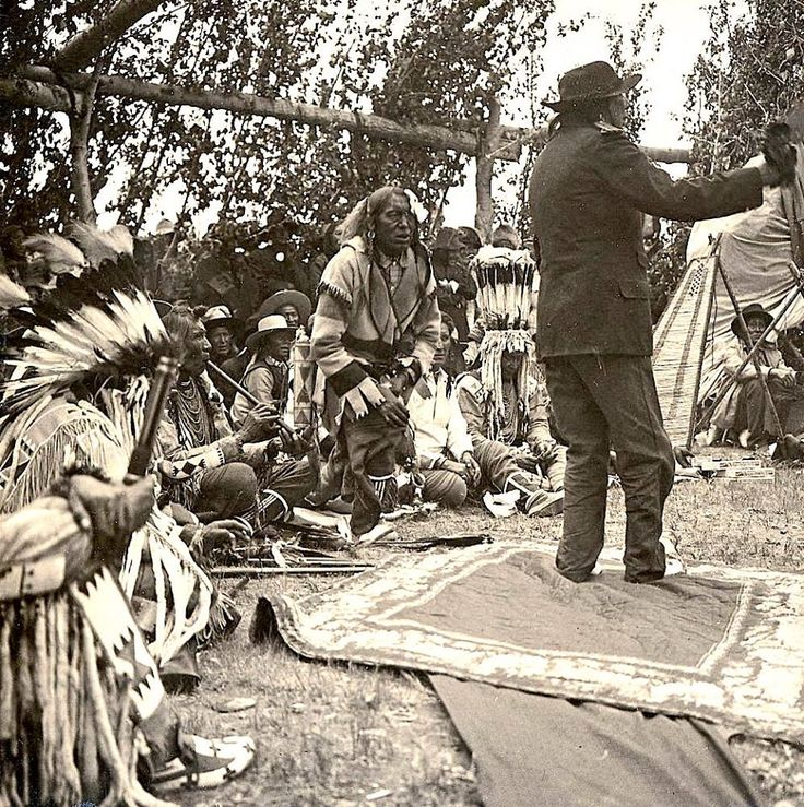 Montana Native Plants: Black Bear Making Speech. Blackfeet. Ca. 1906. Montana