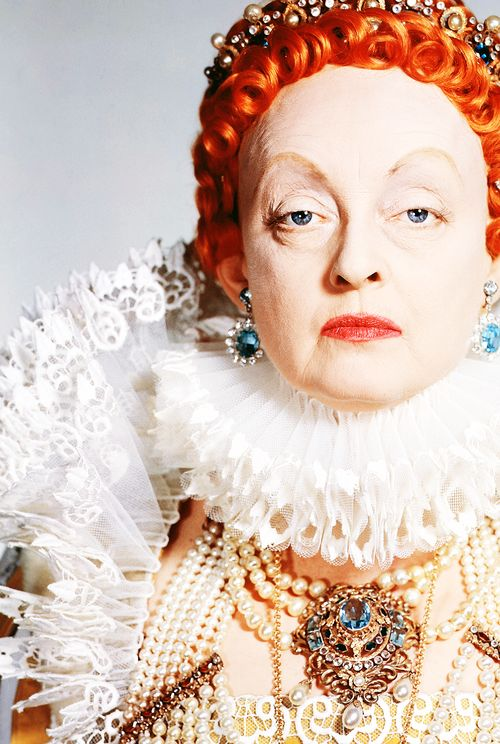 """Bette Davis in character as """"Queen Elizabeth I"""" for """"The Private Lives of Elizabeth and Essex"""", 1939"""