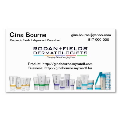 Best Rodan Fields Business Cards Images On Pinterest - Rodan and fields business card template