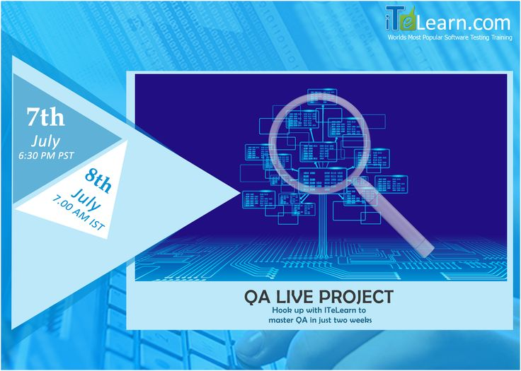 QA+Jira+Bugzilla Live Training and #LiveProject  Need to showcase your capability along with a good project experience to get into your desired #QA job? Join for the Fast track #LiveTraining (QA+Jira+Bugzilla) followed by one week Live project which helps you get a job. Hook up with ITeLearn.com and attend the free #OrientationSession on 07th July at 6.30 PM PST/8th July 7.00 AM IST.