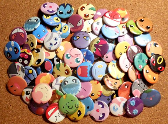 """Make your own Mix & Match #Pokemon 1.5"""" pinback button set!   Go here for details: https://www.etsy.com/ca/listing/219789112/pokemon-mix-match-button-set"""