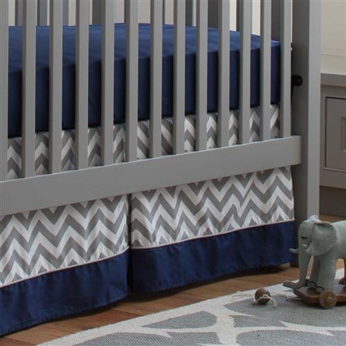 Navy and Gray Elephants Boy Crib Bedding Set by Carousel Designs.