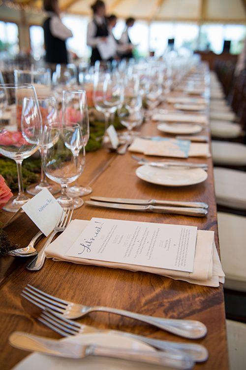 Classic wedding menus | @snapgirls | Brides.com
