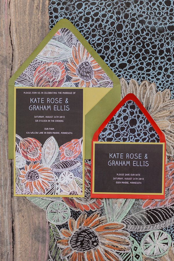 floral invitations, photo by Brooke Michaelson http://ruffledblog.com/out-of-africa-inspiration-shoot #weddinginvitations #stationery
