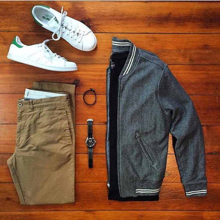 Jacket/Trousers: @grayers T-Shirt: @freshcleantees Shoes: @adidasoriginals Watch: @hamiltonwatch Bracelet: @bryerleather
