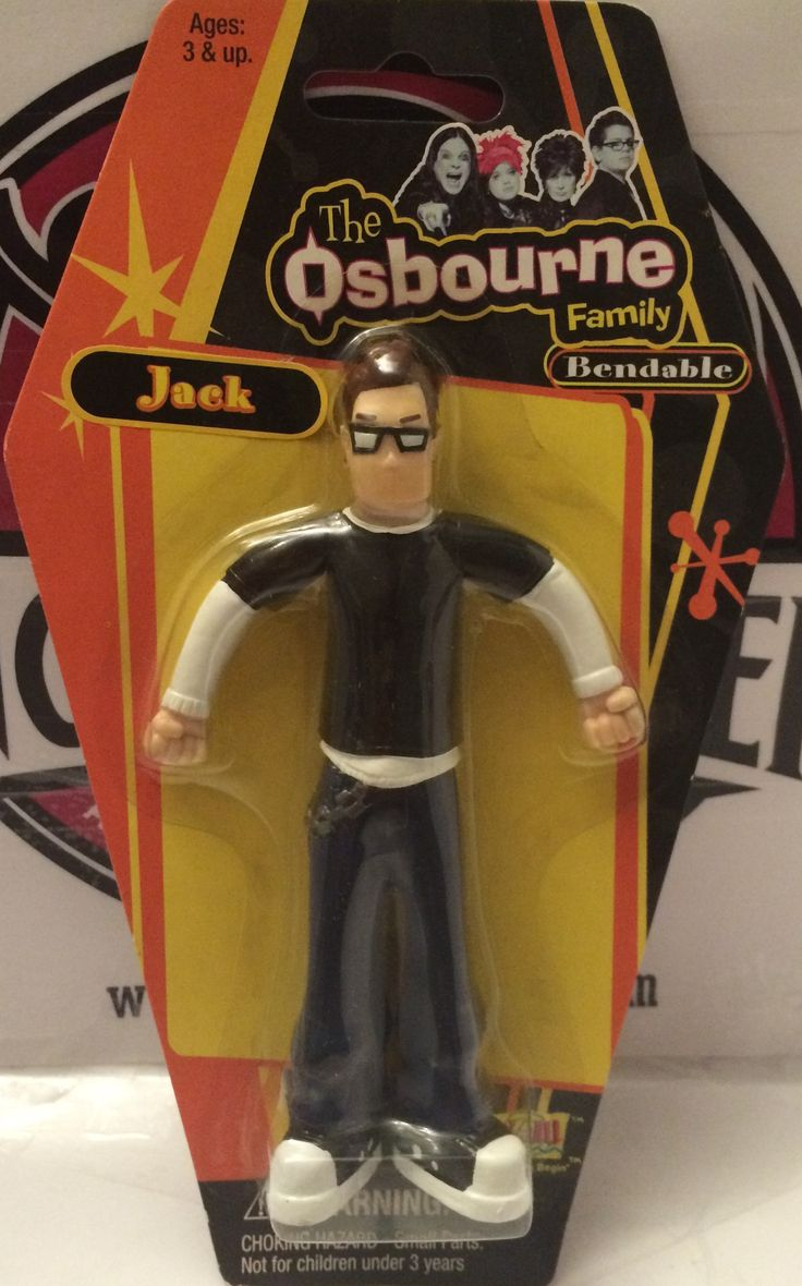 Fun 4 all the osbourne family bendable figure jack the angry spider vintage toys collectibles store