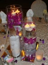 Floating orchid centerpiece decor