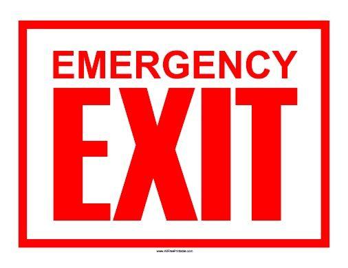 Emergency Exit Sign - Free Printable - AllFreePrintable.com