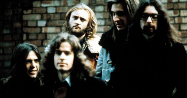 The classic lineup of Genesis in the early 1970s. From left: Peter Gabriel, Tony Banks, Phil Collins, Mike Rutherford and Steve Hackett.
