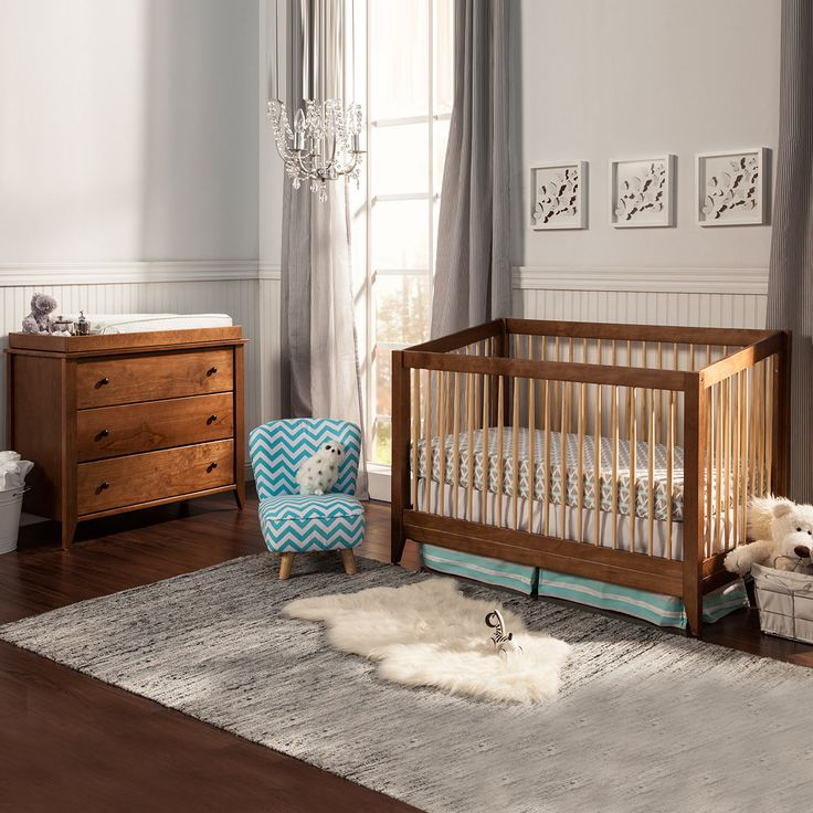 davinci 2 piece nursery set highland 4in1 convertible crib and 3 drawer changer dresser in chestnut