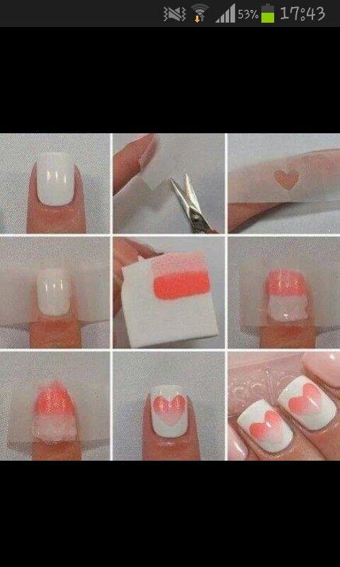 Hartjes nagels heel makkelijk te maken heb het zelf geprobeert