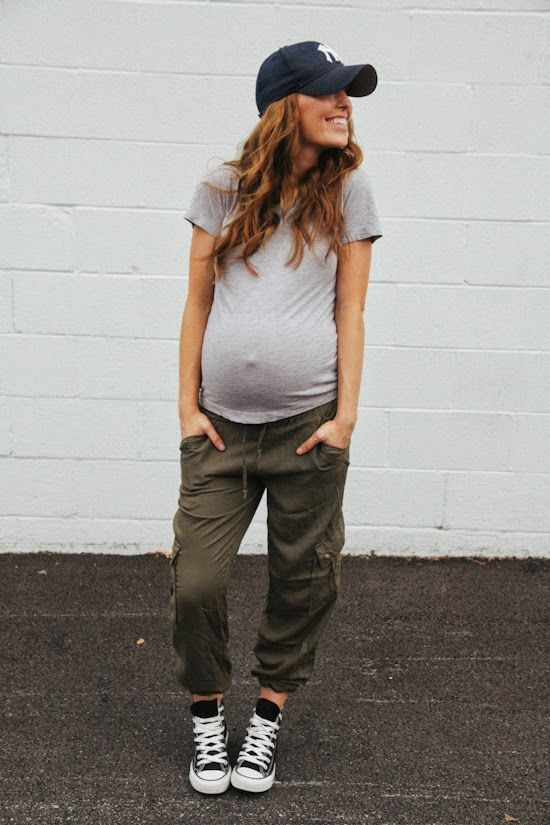 Casual maternity look! Simple but cute!