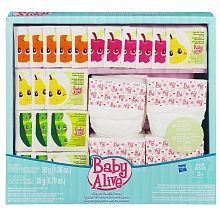 """BABY ALIVE - Doll Food & Diapers Super Refill Pack - Hasbro - Toys""""R""""Us"""