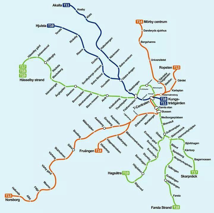 Best Tunnelbana Images On Pinterest Stockholm Sweden Metro - Sweden tunnelbana map
